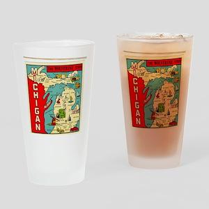 vintage michigan Drinking Glass