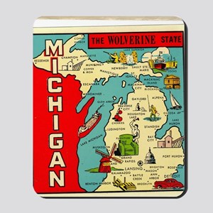 vintage michigan Mousepad