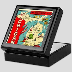 vintage michigan Keepsake Box