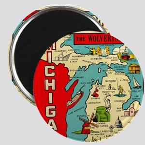 vintage michigan Magnet