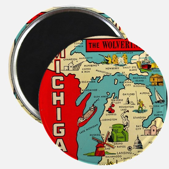vintage michigan Magnet