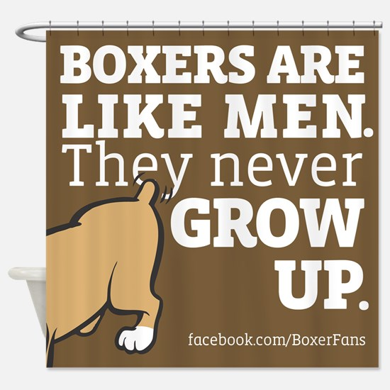 Boxer Dogs and Men Shower Curtain