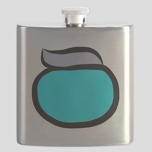 Blue Pacemaker Logo Flask
