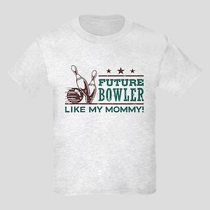 Future Bowler Like My Mommy Kids Light T-Shirt