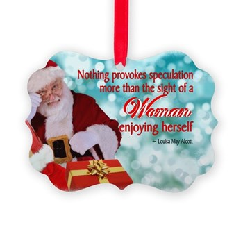 Santa & Witty Quote Picture Ornament