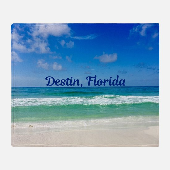 Destin Beach Throw Blanket