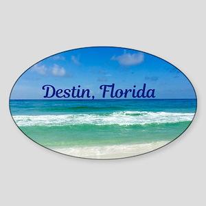 Destin Beach Sticker (Oval)