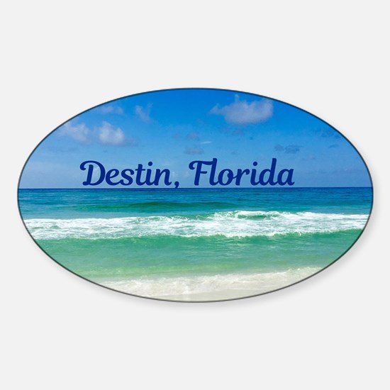 Destin Beach Sticker (Oval)