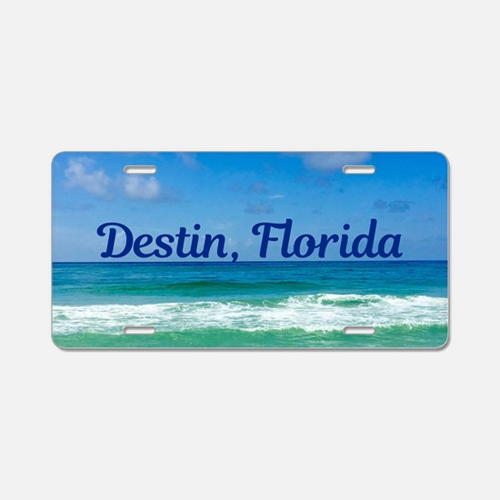 Destin Beach Aluminum License Plate