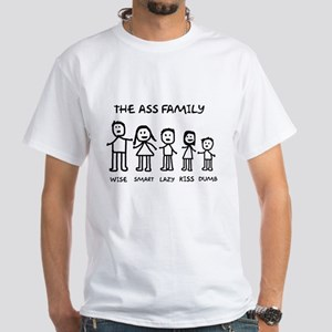 The Ass Family White T-Shirt