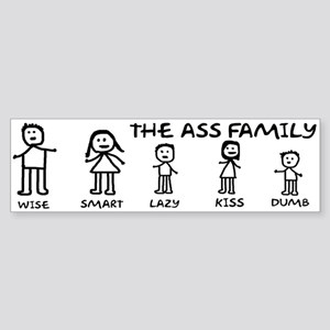The Ass Family Sticker (Bumper)