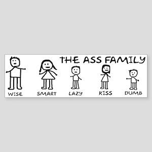 The Ass Family Sticker (Bumper)
