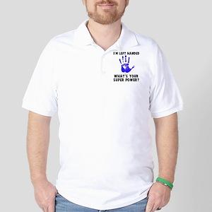 Left Handed Super Power Golf Shirt