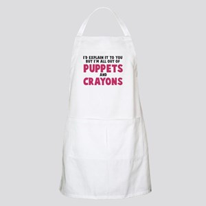 Out of puppets and crayons Apron