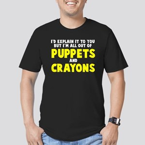 Out of puppets and crayons Men's Fitted T-Shirt (d