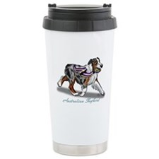 Australian Shepherd Blue Merle Travel Mug