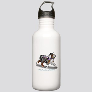 Australian Shepherd Blue Merle Water Bottle