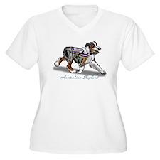 Australian Shepherd Blue Merle Plus Size T-Shirt