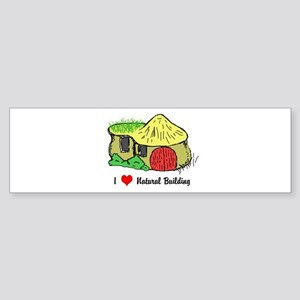 I Heart Natural Building Bumper Sticker