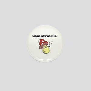 Gone Shroomin with Brother Toadstool Mini Button