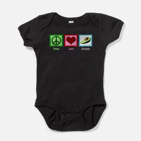 Peace Love Avocado Baby Bodysuit