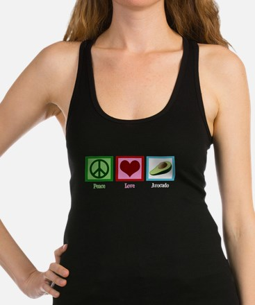 Peace Love Avocado Racerback Tank Top