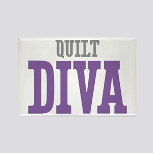 Quilt DIVA Rectangle Magnet