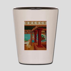 Vintage Crete Greece Travel Shot Glass