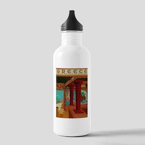 Vintage Crete Greece Travel Water Bottle