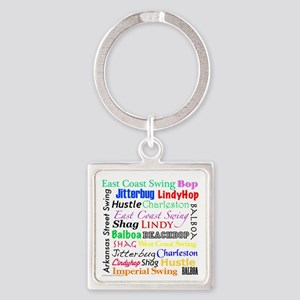 All Swing Dances Square Keychain