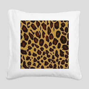 Leopard Print Square Canvas Pillow