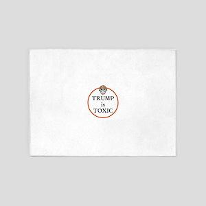 Trump is toxic 5'x7'Area Rug