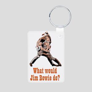 Jim Bowie Aluminum Photo Keychain