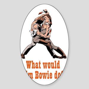 Jim Bowie Sticker (Oval)