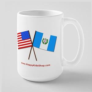 Large Mug - US and Guatemala flags