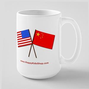 Large Mug - US and China flags