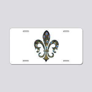 Peacock Fleur 2 Aluminum License Plate