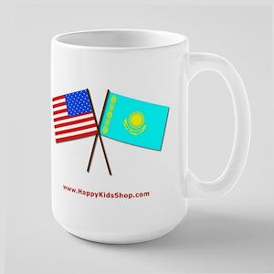 Large Mug - US and Kazakhstan flags