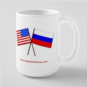 Large Mug - US and Russia flags