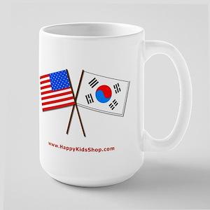 Large Mug - US and Korea flags