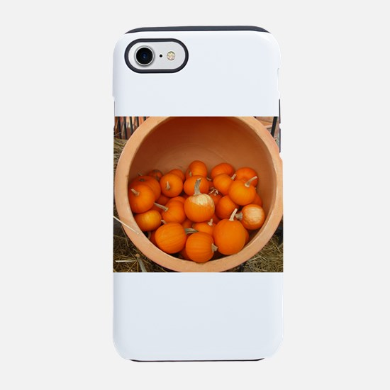 clay pot with small pumpkins i iPhone 7 Tough Case