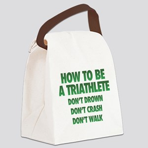 How To Be A Triathlete Canvas Lunch Bag