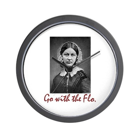 Go with Florence Nightingale! Wall Clock