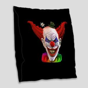 Hobo The Evil Clown Burlap Throw Pillow