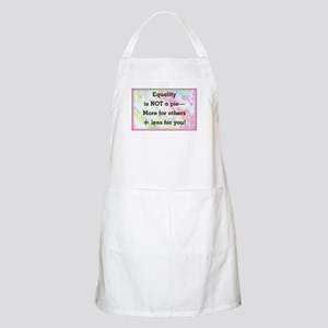 Equality is not a pie Light Apron