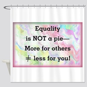 Equality is not a pie Shower Curtain