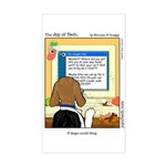 Doggie Blogger Rectangle Sticker