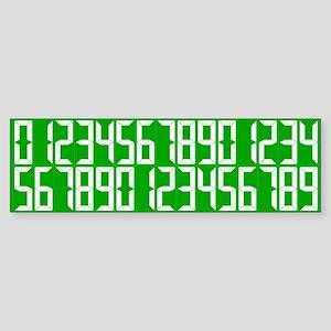 Personal Best Number Set Bumper Sticker