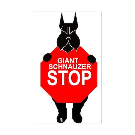 Sticker giant schnauzer stop