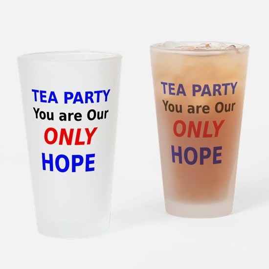 Tea Party You are Our Only Hope Drinking Glass